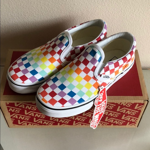 Vans Little Kids checkered slip on shoes 0f347cbaa